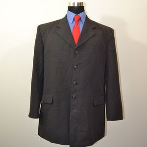 Zandello 46R Sport Coat Blazer Suit Jacket Gray Pl
